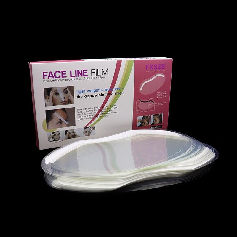 Transparent Forehead Protectors & Eye ,Mask For Hair Dye, Hair Color,  Hair Cutting Scissorsand Hair,100 Sheets Per Box