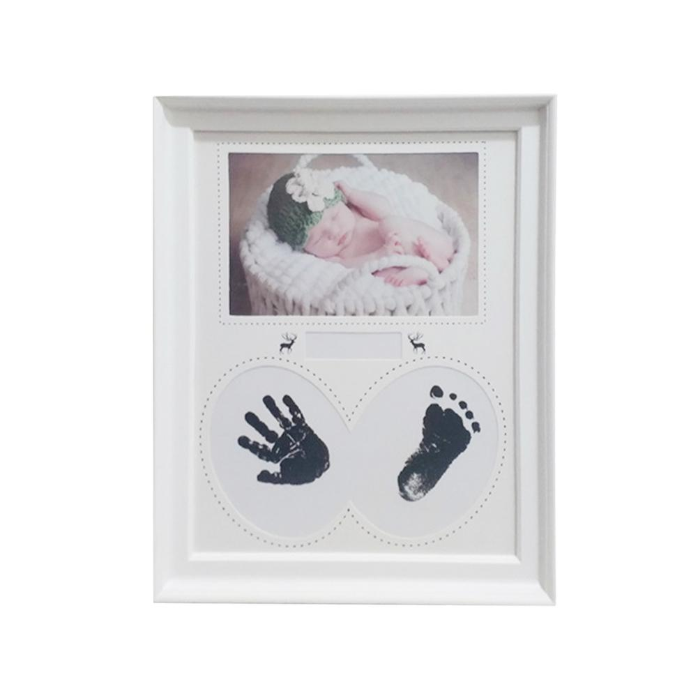 Baby Hand Footprint Photo Frame Newborn Growth Record Souvenir Creative Photo Frame Room Decoration Baby Souvenirs