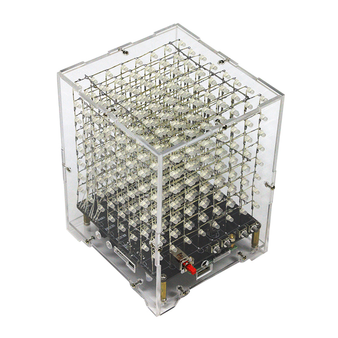 DIY Welding Electronic Bulk Parts Bluetooth Light Cube Kit ( Horn, Remote Control, 7 Colours Changing, Shell, Rechargeable)