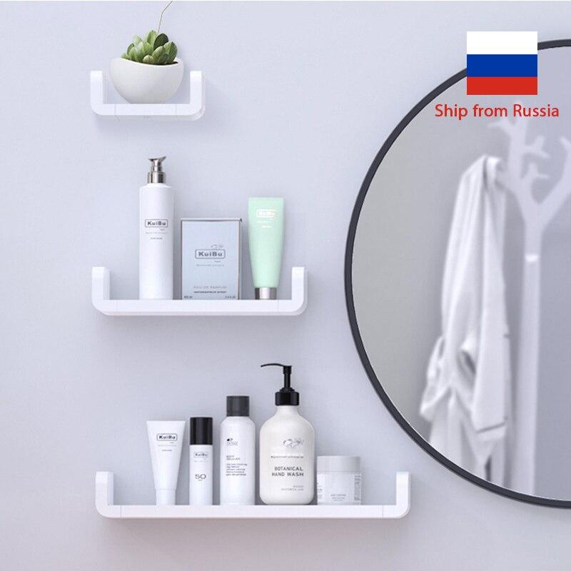 Bathroom Storage Shelves Toilet Shelf Wall Shelves Waterproof Plastic Storage Shelf Rack Accessories For Bathroom Organizer