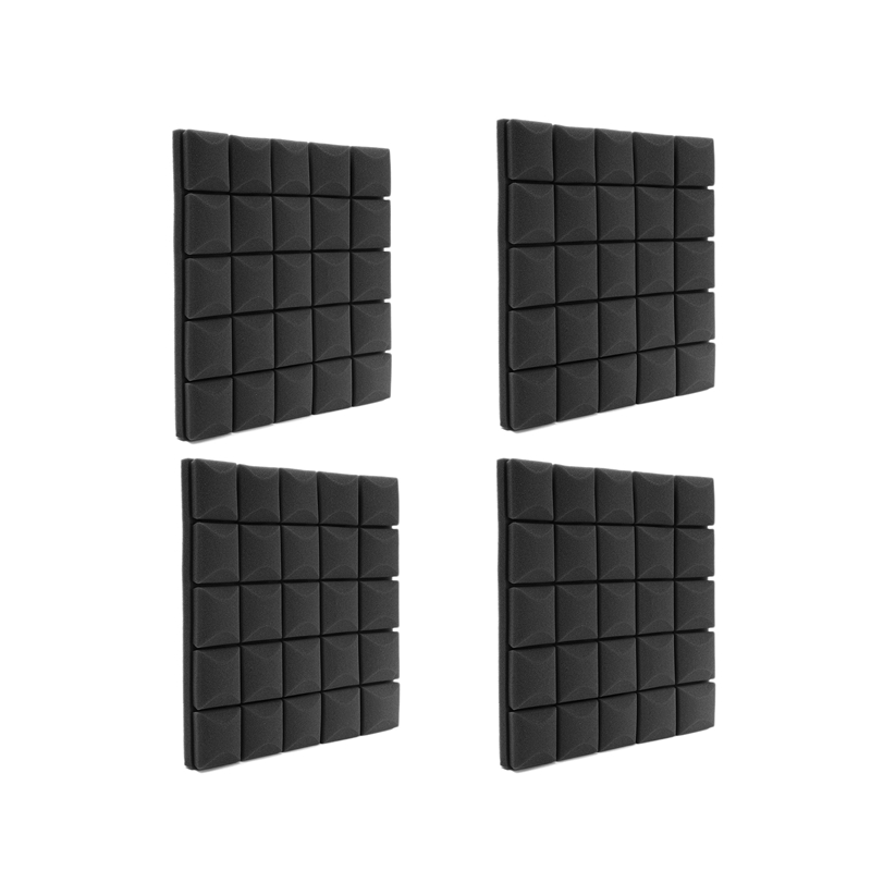 4Pcs/Set 500X500X50mm Soundproof Foam Panels Acoustic Sound Absorption Sponge for Walls Sound Acoustic Panels