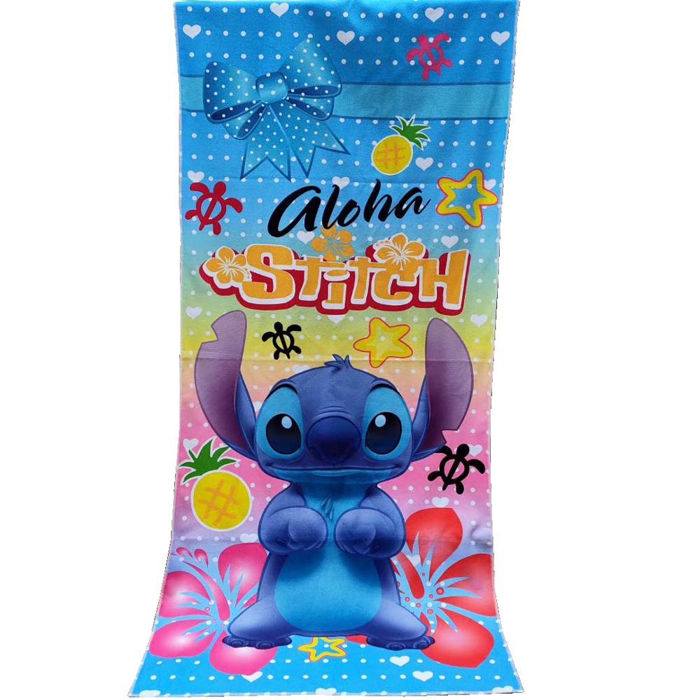 Disney dos desenhos animados 100% poliéster, ponto floral, mickey mouse, microfibra, casa, banho, praia, toalha de natação 70x140cm