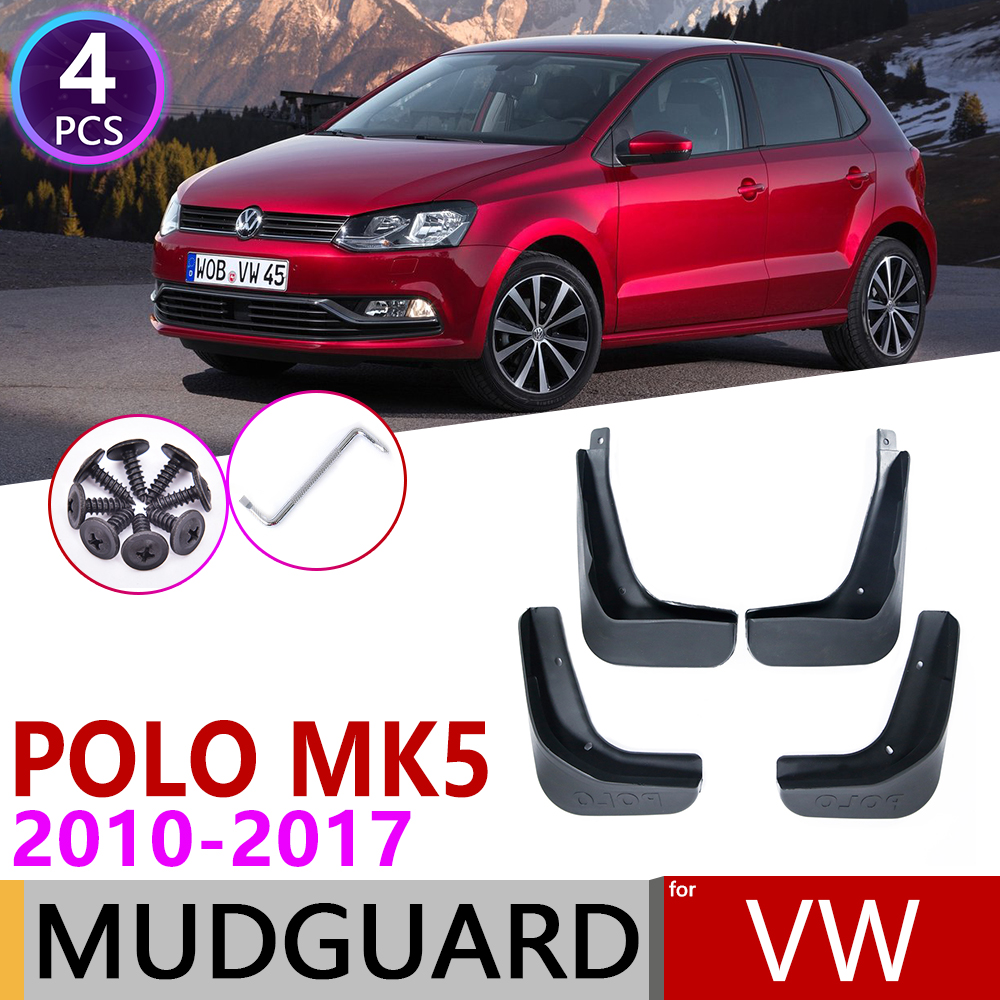 For Volkswagen VW Polo 6R 6C 2010~2017 Fender Mud Flaps Guard Splash Flap Mudguards Accessories 2011 2012 2013 2014 2015 2016