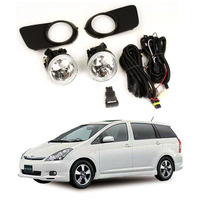 Car Fog Lamp Assembly Kit For Toyota Wish 2004 2005 12V Front Bumper Headight Warm Yellow Halogen Fog Light