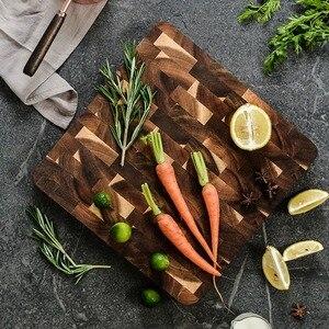Image 4 - פרימיום Acacia עץ חיתוך לוח עם יד כידון חסון מוצק קיצוץ הגשת מגש מגש מושלם מתנה לא צבע חיתוך כלי