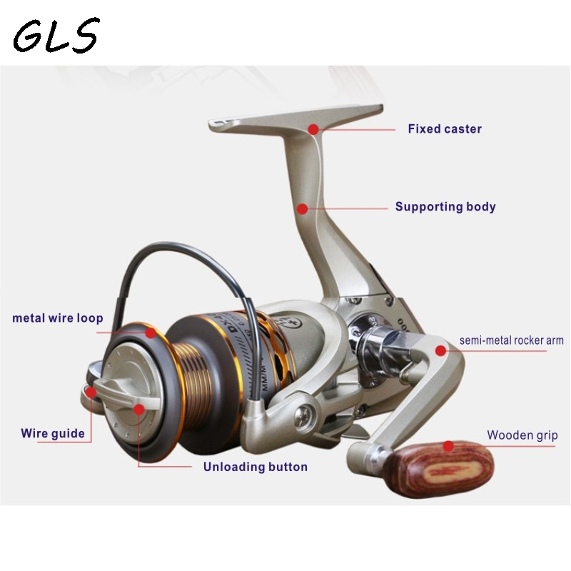 2020 New  Fishing coil Wooden handshake 12+ 1BB Spinning Fishing Reel Professional Metal Left/Right Hand  Fishing Reel Wheels 4