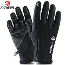 X-TIGER Pro Cycling Gloves Winter Full Finger Thermal Bike Sport Gloves Windproof Shockproof Touch Screen MTB Bicycle Gloves(China)