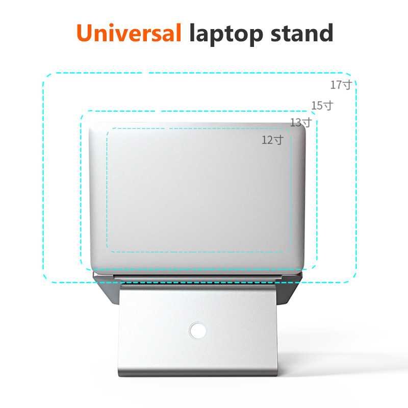 lowest price Aluminum Tablet Laptop Stand Notebook Holder For Macbook Air Pro Notebook Support Cooling Pad Mount For HP Dell