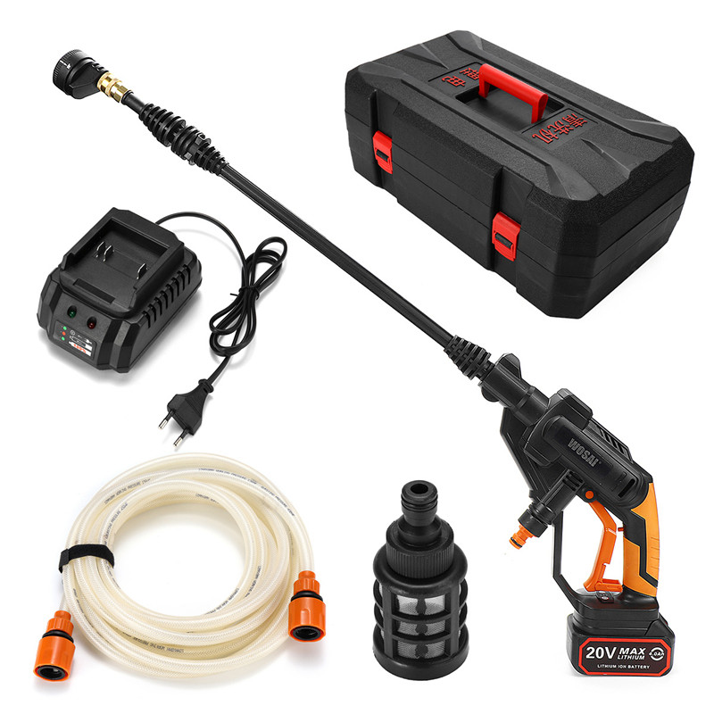 12V Portable Cordless High Pressure Electric Water Guns Foam Lance Car Washer+Hose+Nozzle Lithium Battery Rechargable Clean Tool