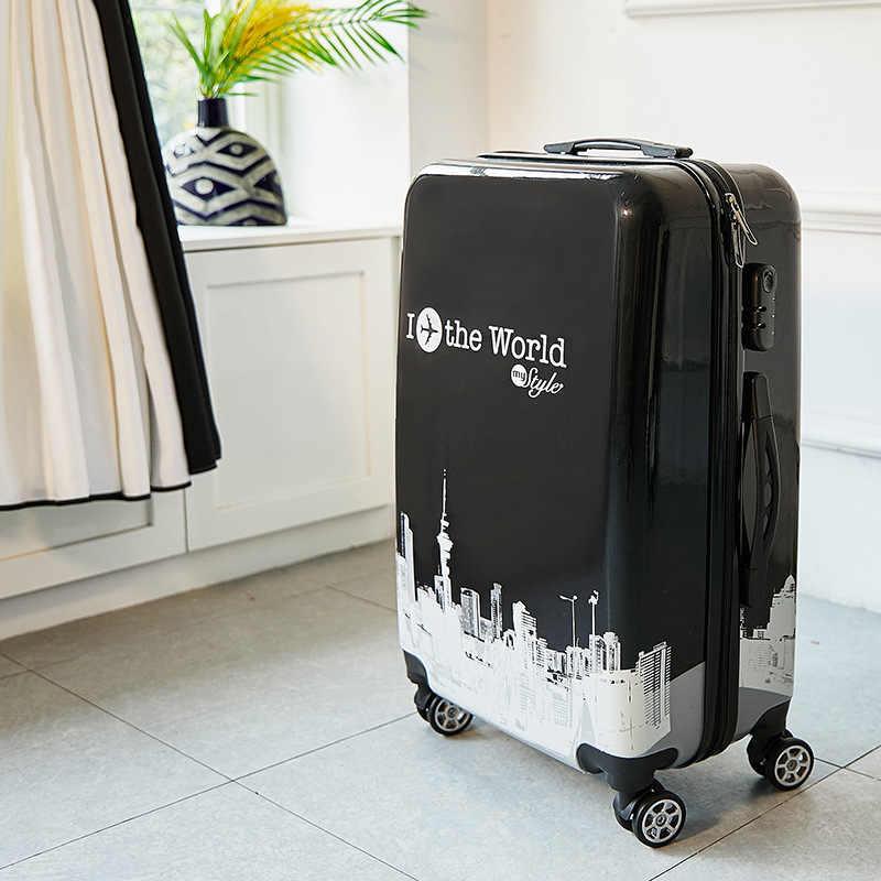 24 zoll ABS + PC koffer Reise trolley gepäck 20'' tragen auf roll gepäck Kabine trolly tasche für reisen kinder gepäck tasche
