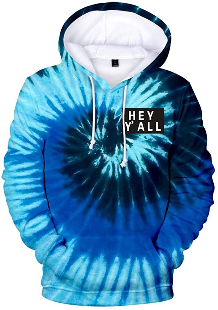 2020 Addison Rae: Hey Y'all Tie Dye 3D Hoodie Men/Women Casual Fashion Long Sleeve Hoodies Sweatshirts Tops Outwear Tracksuit 4