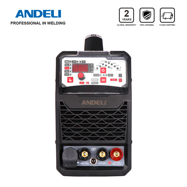 ANDELI Smart Portable Single Phase Multi function Welding Machine CT 520DPC 3 in 1 Welder with CUT/MMA/Pulse/TIG Welding machine
