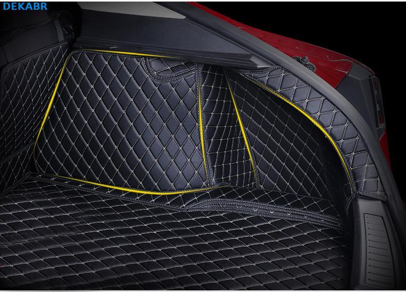 Автомобильный коврик багажника грузовой лайнер задняя крышка Водонепроницаемая накладка протектор для 2014 2019 Tesla модель S интерьерные аксес... - 6