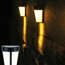 6led zasilane energią słoneczną energooszczędne lampy wodoodporne kinkiety do ogrodu Yard tanie tanio AsyPets CN (pochodzenie) Nikiel szczotkowany IP65 5 5 V Lampy ścienne Z aluminium Nowoczesne W nagłych wypadkach Klin