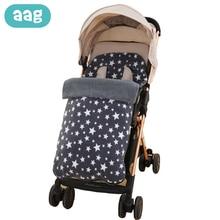 AAG детский зимний конверт для разгрузки, детский спальный мешок, пеленка для новорожденных, кокон для детских колясок, аксессуары, муфта для ног