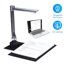 NEW F60A USB Document Camera Scanner 5 Mega-Pixel HD Camera A4 Capture Size with LED Light Teaching Software Dropshipping