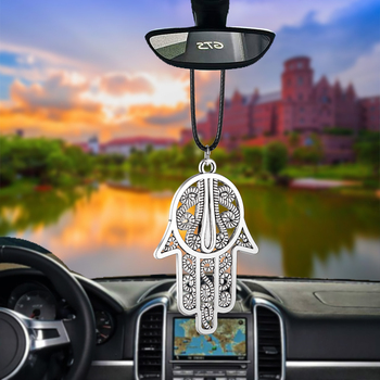 Car Pendant Fingered Citron Rearview Mirror Decoration Auto Hanging Ornament Automobiles Interior Accessories God Gifts Styling фото