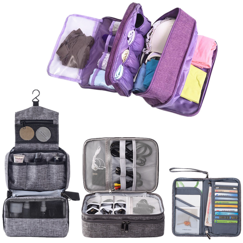 Travel Accessory Digital Bag Electronic Organizer Package Cosmetic Underwear Makeup Cases Bag Storage Pouch Passport Cover Bags