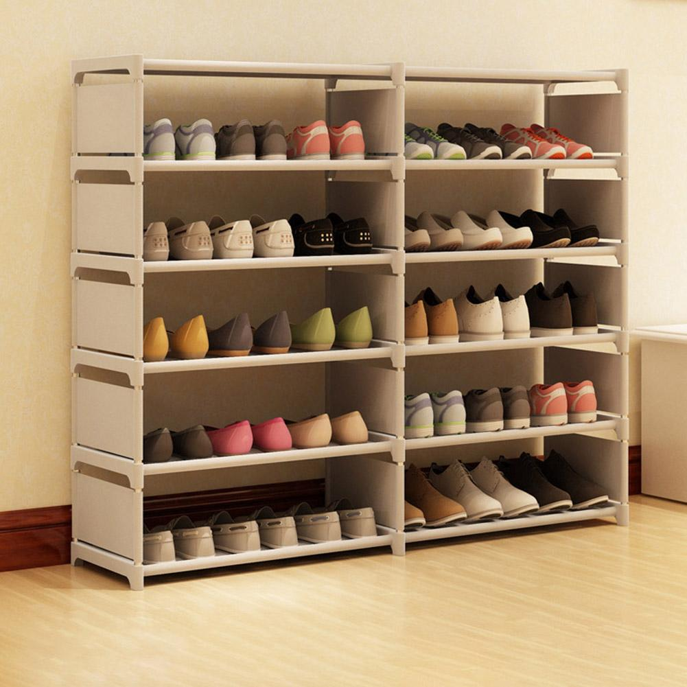 Discounted  Multilayer Non-woven Fabric Space Saving Large Capacity Shoe Rack Bathroom Space Saver Dustproof St
