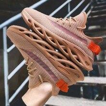Обувь для бега; Модные дышащие повседневные спортивные кроссовки; светильник; женские и мужские трендовые беговые кроссовки; пара обуви