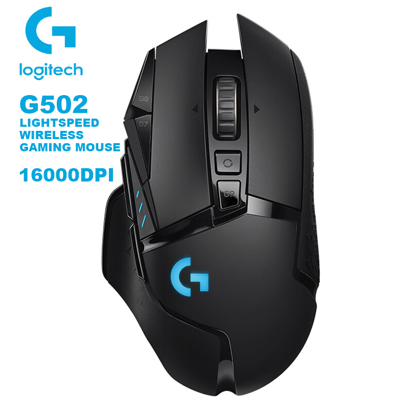 Logitech G502 LIGHTSPEED Wireless Gaming Mouse Wireless 2.4GHz HERO 16000DPI RGB for Overwatch MMO MOBA Mouse Gamer image