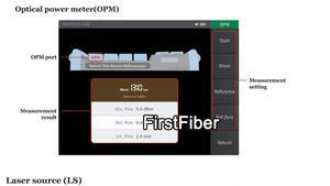 Image 4 - مقياس انعكاسات الألياف البصرية OTDR المدمج في VFL OLS OPM مع FC SC ST شاشة تعمل باللمس تقرير طباعة 1310nm 1550nm 32 30dB