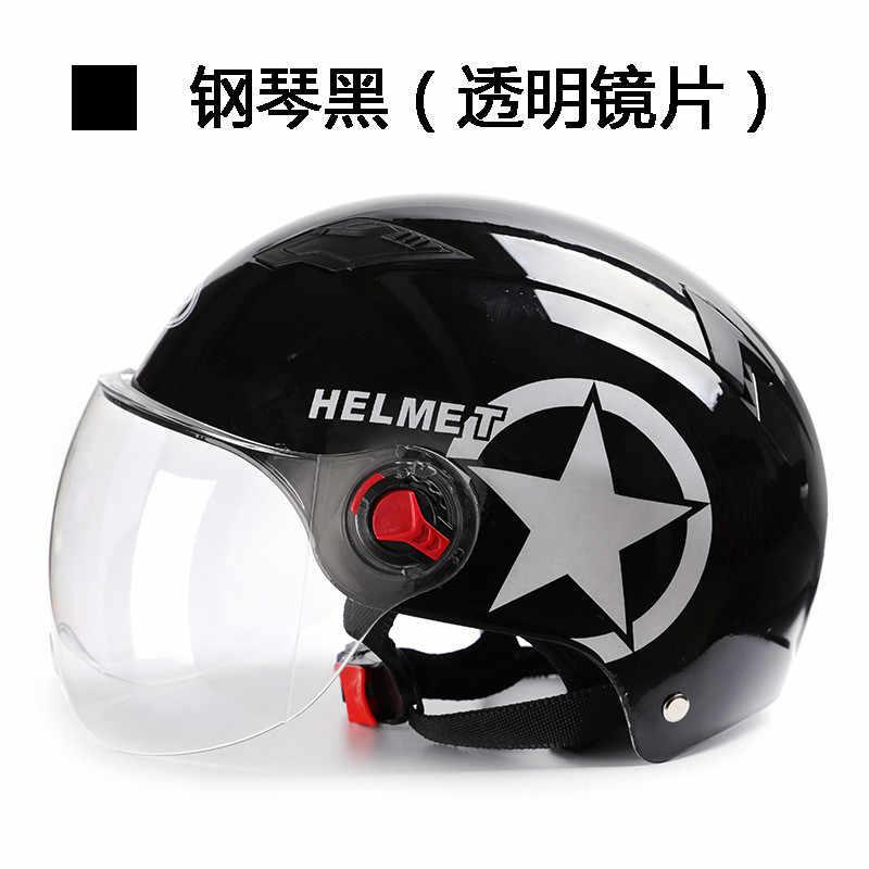 Шлем мотоциклетный с открытым лицом Регулируемый Электрический мотоцикл гоночный мотоцикл винтажные мужские женские шлемы с объективом унисекс