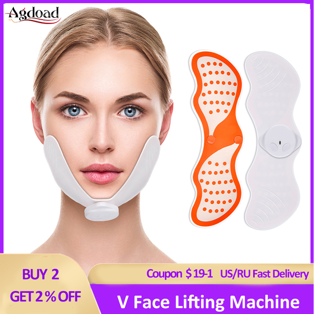 EMS 얼굴 리프팅 기계 전기 V 얼굴 슬리밍 마사지 얼굴 진동 마사지 장치 V 얼굴 교정기