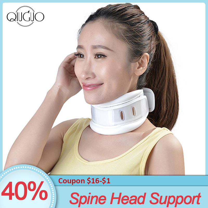 Neck Brace Spine Head Support Cervical Collar Relief Neck Pain Vertebra Orthopedics Stretching Devices Posture Corrector(China)