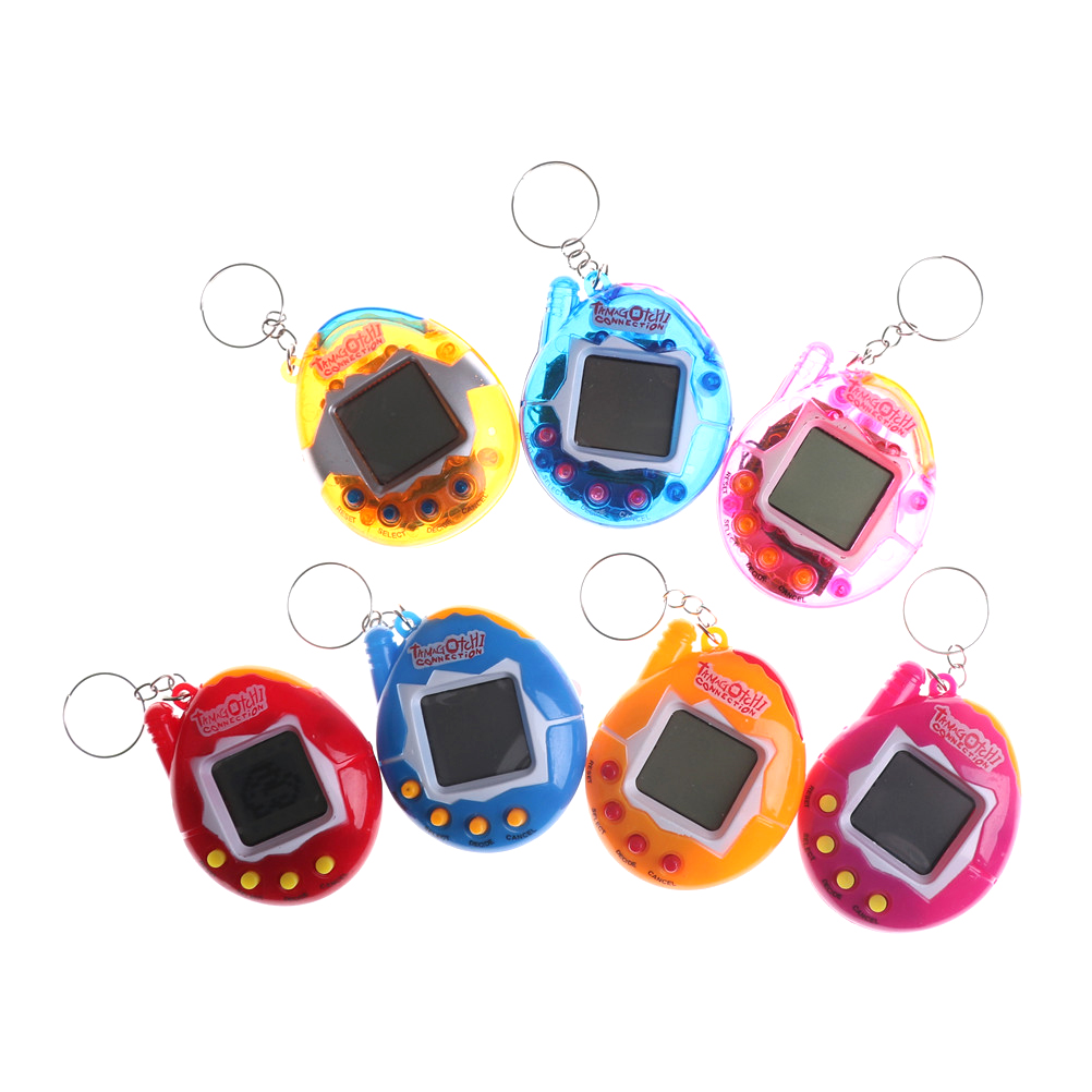 1pc Funny Tamagotchi Gift Keyring Pets Toys Gift Christmas 90S Nostalgic 49 Pets In One Virtual Cyber Pet Toy