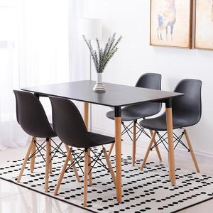 120*60*75cm Nordic Minimalist Style Dining Table Dinner Bar Table Kitchen Furniture Home Household Accessories HWC
