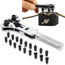 Kit de herramientas de reparación de relojes caja para reloj de pulsera abridor tornillo ajustable herramienta de retirada de Parte posterior llave herramienta de reparación reloj caja abridor llave reloj