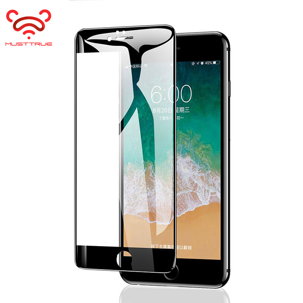 MUSTTRUE Tempered Glass For iPhone 7 8plus Screen Protector for iPhone5 5s 6s 6plus Glass Film Shield for iPhoneX 10 XS MAX XR(China)