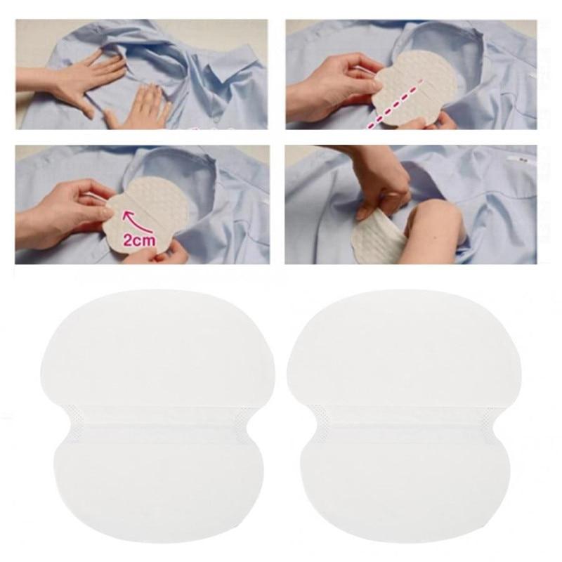 20pcs Unisex Disposable Sweat Pads Deodorants Underarm Anti Perspiration Sweat Pads Sticker Paste Armpit Absorb Sweat Shield Pad
