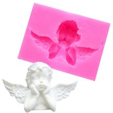1PC DIY Silicone Fondant Cake Cupid Little Angel Molds Cake Decoration Tools Chocolate Mold Candy Clay 3D Cake Bakeware Mold the chocolate cupid killings