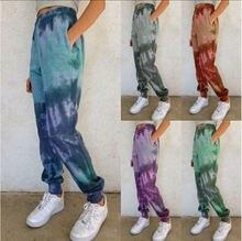 Новинка 2020 осень/зима женские новые повседневные брюки с принтом