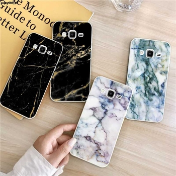 Marble 3 Silicon Soft TPU Case Cover For Samsung Galaxy Core Grand Prime Neo Plus 2 G360 G530 I9060 G7106 Note 3 4 5 8 9 image