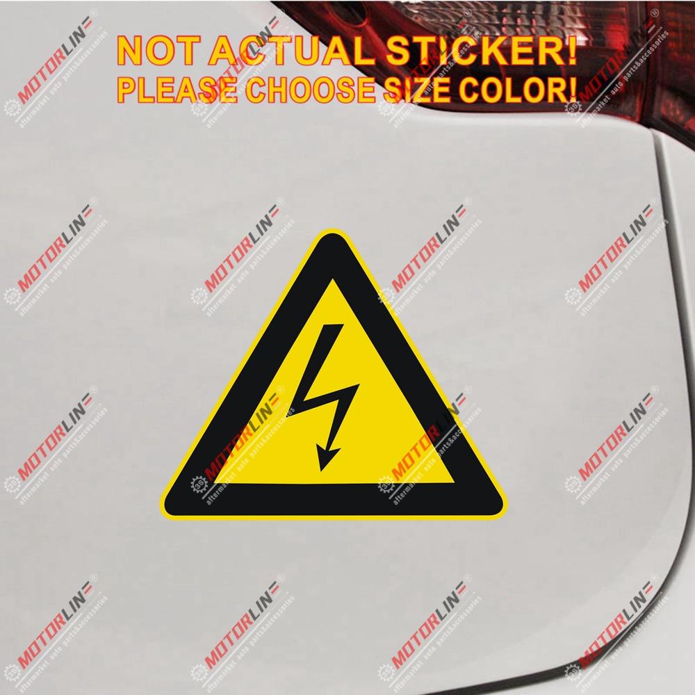 High Voltage Symbol Warning Decal Sticker Car Vinyl Reflective Glossy Pick Size
