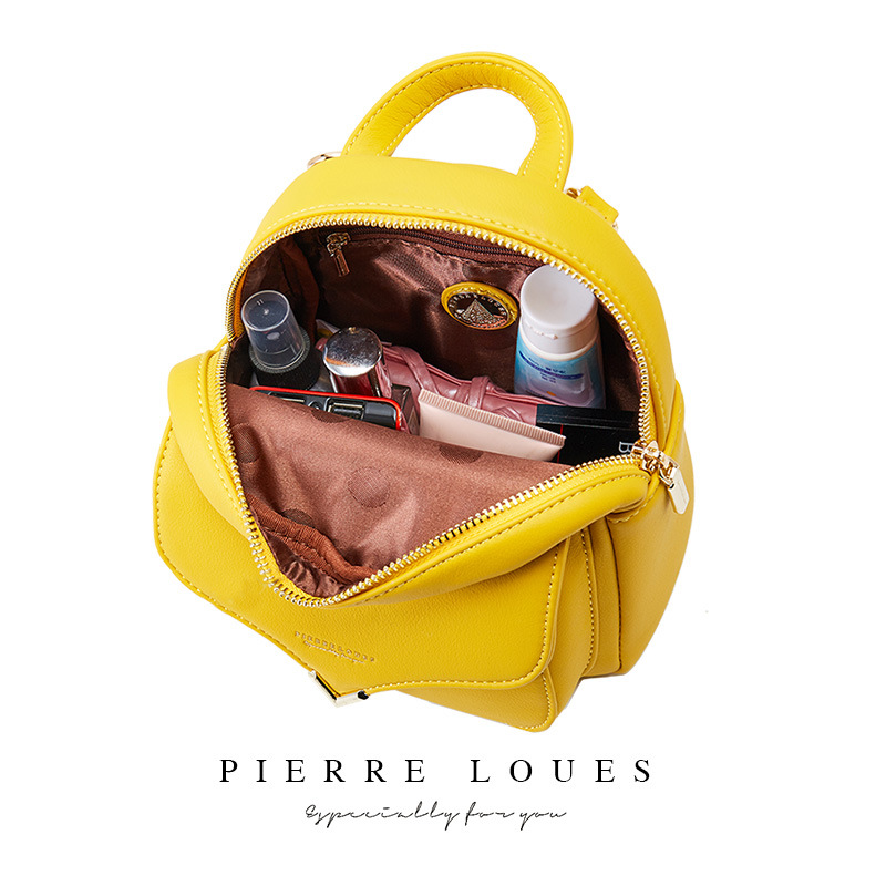 Image 5 - YIZHONG Fashion Luxury Women Backpack Leather MultiFunction Small Backpack Mini Backpack Purse Ladies Shoulder Bag MochilaBackpacks   -