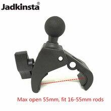 Крепление-зажим Jadkinsta на руль мотоцикла или велосипеда с 1 дюймовым шариковым креплением для экшн-камеры Gopro