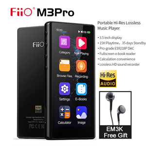 FiiO M3Pro MP3 Player 3.5inch Full Touchscreen HiFi Lossless Sound Music Player with Voice Recorder, E-Book ,Free em3k headphone