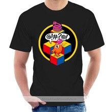 Q-bert, T-Shirt, Arcade, wideo, gry, gry, klasyczne, Retro, 80, zabawa Cartoon T Shirt mężczyźni Unisex nowa koszulka za darmo @ 007502