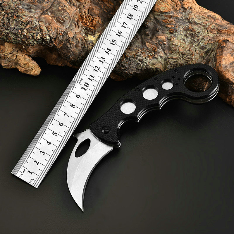 Karambit Military Knife Folding Pocket Army Knives Hunting Knife Survival Tactical Utility Outdoor EDC Multi Knife D2 Steel G10