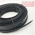 12V 24V 110V 220 Volt Wasser Rohr Anti-einfrieren Frost Schutz Heizung Kabel Für Dach Selbst regulierung Elektrische Heizung Draht 50m