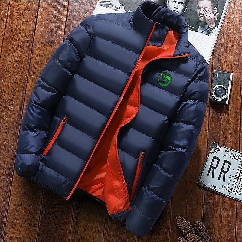 Brand Men Parka Cotton Padded Winter Jacket Coat Mens Warm Jackets Male Solid Color Stand Collar Zipper Thicken Riverdale Tops