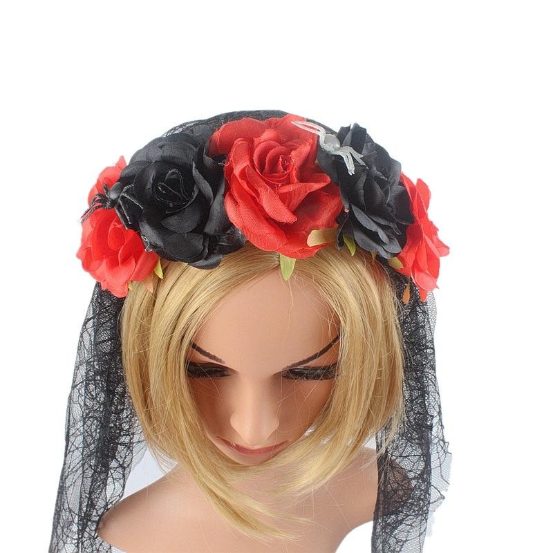 Gothic Garland Crown Headband Halloween Dacing Party Photography Hair Decor 2019