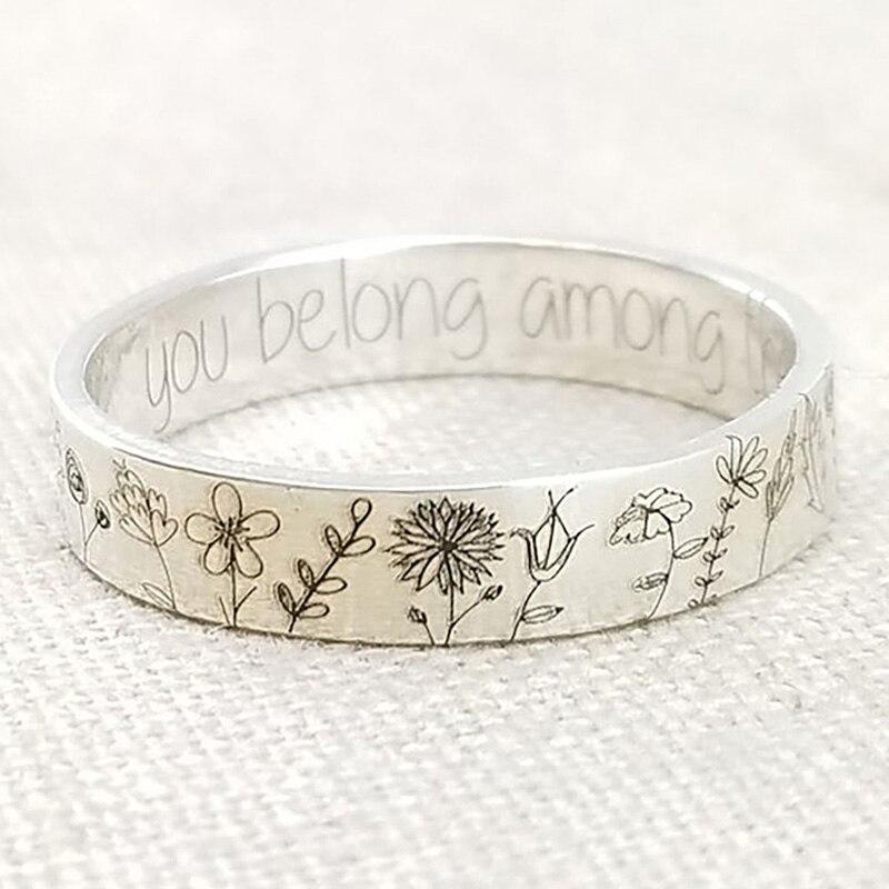 Кольца в винтажном стиле с одуванчиком для женщин, простое металлическое женское кольцо обещания, Новое поступление 2021, женские свадебные у...