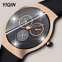 Fashion Luxury Quartz Wristwatches Black Women Waterproof Watch Female Clock Rubber Men Fitness Wrist Watches Diamond Dial Watch