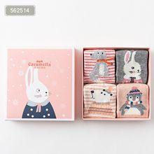 Новые стильные детские носки на осень и зиму Детские хлопковые носки без пятки с рисунками животных в подарочной упаковке