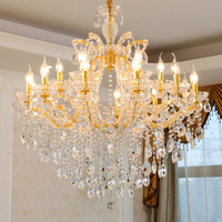 Maria theresa crystal chandelier Lighting For Living room Bedroom luxury chandelier lights with lampshade indoor home hanging